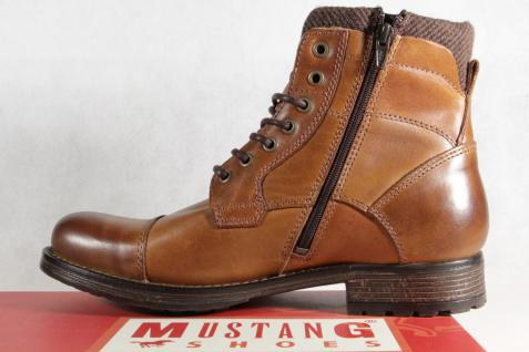 Mustang Stiefel braun Stiefel Schnürstiefel Winterstiefel braun Stiefel Echtleder 4865 NEU ad5956