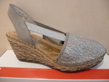 Rieker Damen NEU!! Sandale Sandalette Sling grau NEU!! Damen 0778d1