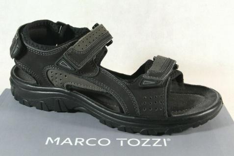 Marco Tozzi Herren Sandale Sandalen Sandalette Sandaletten Leder schwarz NEU !