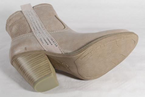 Marco Tozzi Stiefel, Reißverschluss Stiefeletten, Stiefel Kunstleder beige, Reißverschluss Stiefel, NEU! 3e477d