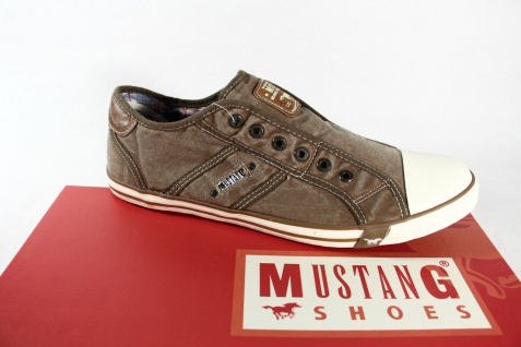 Mustang Herren Leinen Leinen Leinen Slipper, beige/ sand Gummisohle 4058 NEU 7031e0