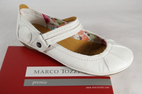 Marco Tozzi Tozzi Tozzi Ballerina, weiß, NEU! a82ded