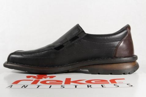 Rieker schwarz Slipper Sneaker Halbschuhe Echtleder schwarz Rieker NEU e06912