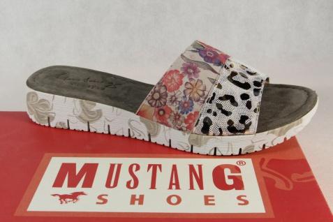 Mustang Pantolette Pantoletten Hausschuhe grau/ multi 1322-702 Neu!