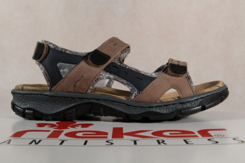 Rieker Damen Sandalen Sandalen Damen Sandaletten Leder braun 38872 NEU!! Beliebte Schuhe 3e2b56