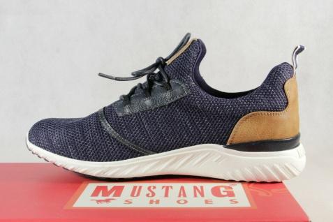 Mustang Slipper Schnürschuhe Sneakers Halbschuhe Sportschuhe blau 4132 NEU - Vorschau 3