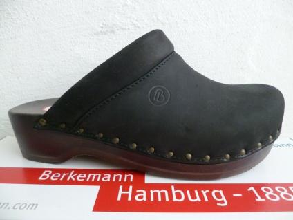Berkemann Damen Clogs Pantolette Pantoletten Pantoffel Leder schwarz 00412 NEU!
