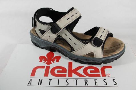 Rieker weiche Damen Sandale, beige, Klettverschluß, weiche Rieker Innensohle, Gummisohle NEU!! acfa5b