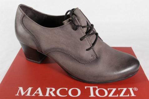 Marco Tozzi Trotteur, Schnürschuh, Slipper, Trotteur, Tozzi grau, Echtleder NEU! 021aba