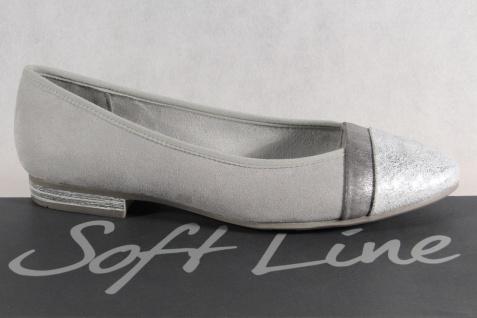 Soft Line by Jana Damen Ballerina Pumps Slipper grau Weite H NEU!