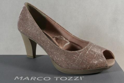 Marco Tozzi Pumps Ballerina Slipper Peep Toe rose NEU!