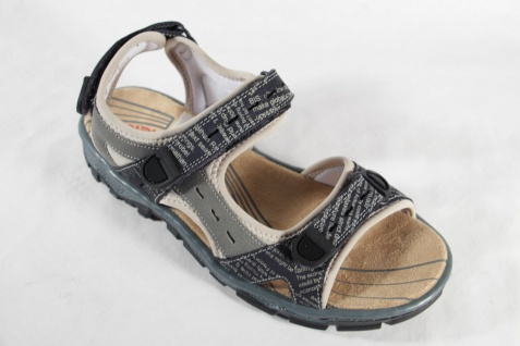 Rieker Damen Sandalen Sandale Beliebte Sandaletten grau Klettverschluß 68872 NEU!! Beliebte Sandale Schuhe c5b4b0