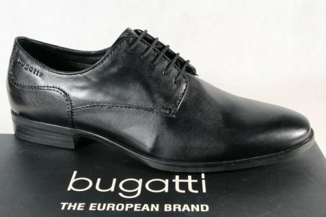 Bugatti Herren Schnürschuh Schnürschuhe Halbschuhe Sneaker schwarz 44601 NEU!