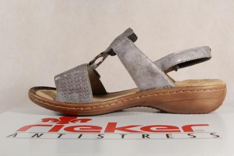 Rieker Damen Sandalen Sandaletten grau, NEU!! weiche Innensohle 60887 KV NEU!! grau, 7f6e6f