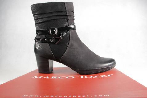 Marco Tozzi Stiefelette Stiefel, schwarz, NEU!! Leder 25421 NEU!! schwarz, 39a200