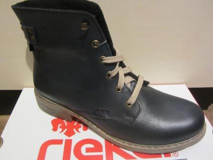 Rieker Schnürstiefel, blau, Leder, leicht gefüttert, NEU NEU NEU Beliebte Schuhe d33f6b