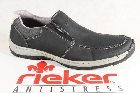 Rieker Herren Slipper Halbschuhe Sneakers schwarz NEU