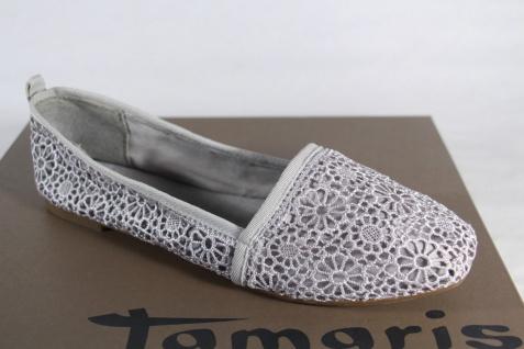 Damen Ballerina Slipper Pumps Textil grau NEU!!