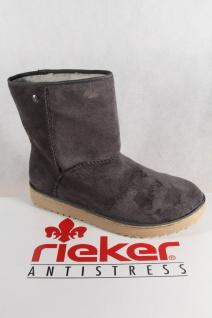 Rieker Damen Stiefel Stiefeletten Boots Winterstiefel grau Y7881 NEU