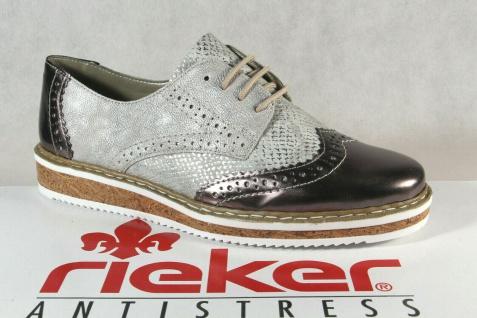 Rieker Damen Schnürschuh Schnürschuhe Sneakers Sportschuhe Halbschuhe grau NEU! - Vorschau 1