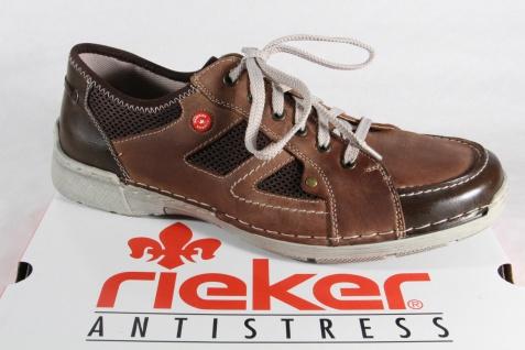 Rieker Herren Schnürschuhe Sneakers Halbschuhe Sneaker braun Leder NEU!