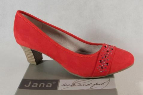 Jana Damen Pumps Soft Line Slipper Ballerina rot Weite H NEU!