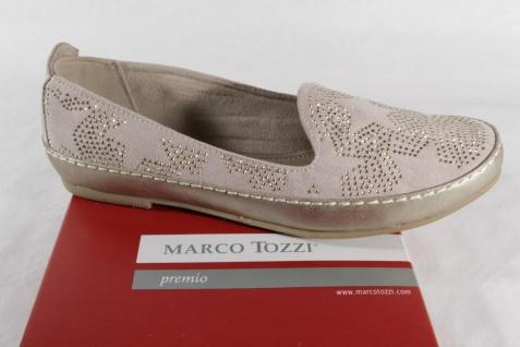 Marco Tozzi Damen Slipper NEU! Ballerina beige/ gold, Gummisohle, NEU! Slipper 5dfd66