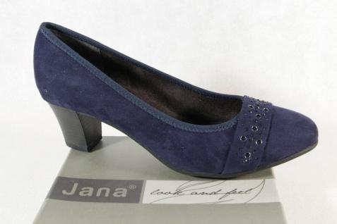 Jana Damen Pumps Soft Line Slipper Ballerina blau Weite H NEU!