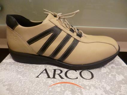 Arco Herren Schnürschuh Halbschuh Sneaker beige/schwarz 50% reduziert NEU