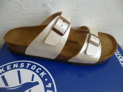 Birkenstock Sydney Pantolette Pantoletten Pearl White 1016171 NEU!
