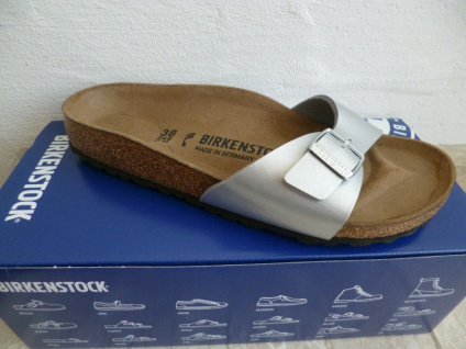 Birkenstock Madrid Pantolette Sandale Silver 0040413 NEU!