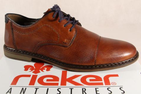 Rieker braun Herren Schnürschuhe, Halbschuhe Sneakers braun Rieker Leder 13428 NEU! f702d1