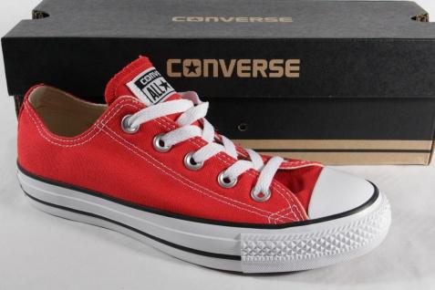 Converse All Star Schnürschuhe Sneakers rot, Textil/ Leinen, M9696C Neu!!!