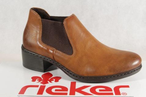 Rieker Stiefel, Stiefelette, Stiefel, Stiefel, Rieker Schlupfstiefelette, braun, 57690 NEU 448c56