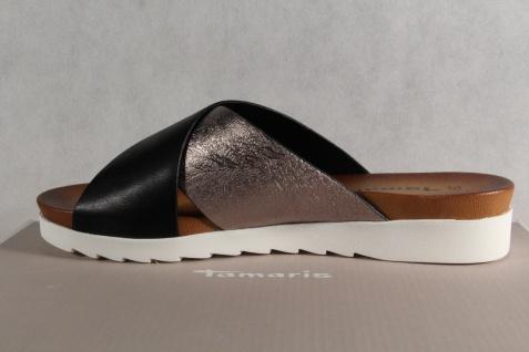 Tamaris Pantolette NEU! Pantoletten Hausschuhe Pantoffel schwarz/silber NEU! Pantolette 62f880