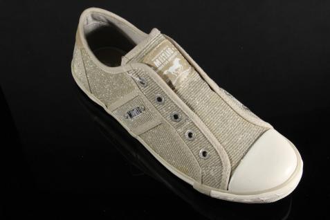 Mustang Slipper Sneakers NEU Sportschuhe Halbschuhe beige Leinen NEU Sneakers aa444b