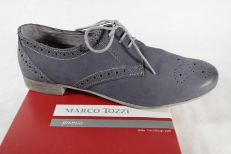 Marco Tozzi Schnürschuh Sneakers Halbschuhe NEU! blau Echtleder NEU! Halbschuhe 84f041