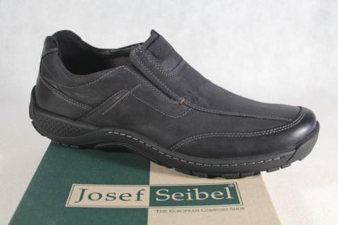 Josef Seibel Slipper Halbschuhe Sneakers Leder schwarz 17142 NEU