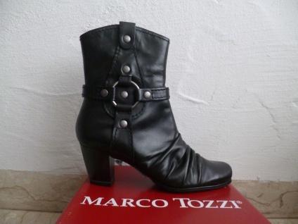 Marco Stiefeletten Tozzi Damen Stiefeletten Marco Stiefelette schwarz Echtleder NEU! fded6d