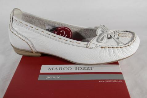 Marco Tozzi Damen Slipper Ballerina weiß Leder NEU!