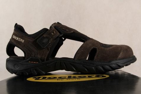 Dockers braun Sandale Sandalen Sandatetten Slipper braun Dockers Leder NEU c65e94