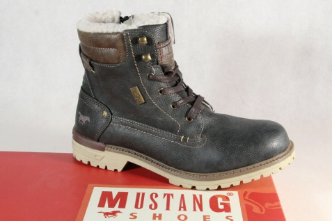 best website 97118 9437b Mustang Stiefel Stiefeletten Boots Winterstiefel grau 5051 NEU