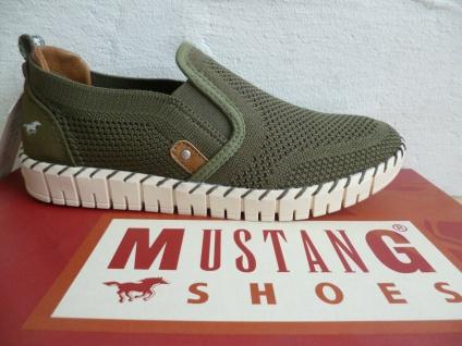 Mustang Sneaker Sneakers Slipper Slippers oliv grün 1379 NEU!