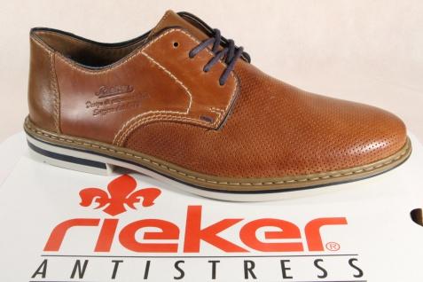 Rieker Herren Schnürschuhe, Halbschuhe B1428 Sneakers braun Leder NEU!