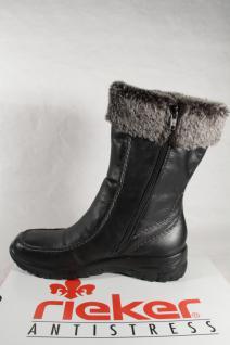 Rieker schwarz, Z7190 Stiefel Siefeletten Stiefel, schwarz, Rieker gefüttert, Riekertex NEU 7d9c8f