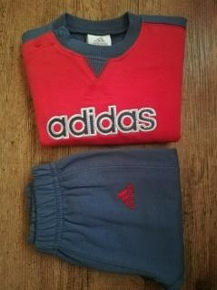 Adidas Jogger Jogginganzug Babyjogger Sweatshirt Sweathose rot dunkelblau NEU - Vorschau 1