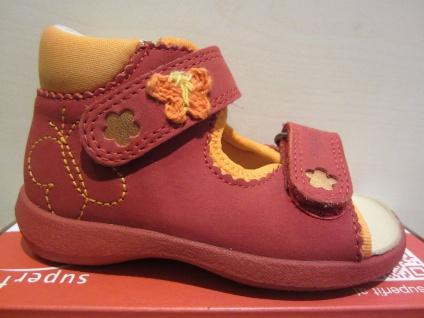 Superfit Lauflern-Sandale rot/orange Lederfußbett Neu !!!