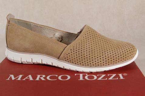 Marco Tozzi Damen Slipper Ballerina Leder braun 24709 NEU!