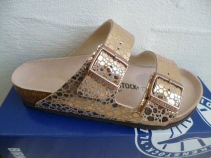 Birkenstock Arizona Pantolette Sandale Metallic Stones Copper 1006684 NEU!