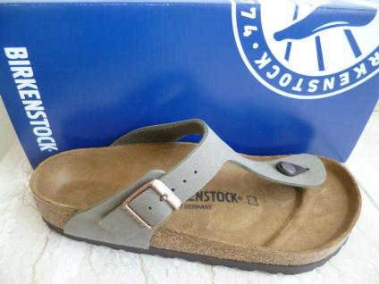 Birkenstock Gizeh Zehen Trenner Pantolette Pantoletten Sandale Stone 043391 NEU!